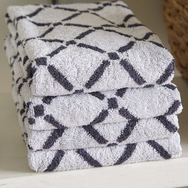Luxurious Diamonds 6 Piece 100% Cotton Towel Set by The Twillery Co.